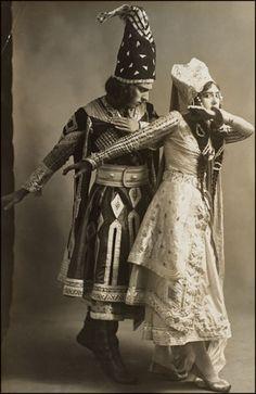 Diaghilev's Ballets Russes - Adolph Bolm & Tamara Karsavina in Thamar.