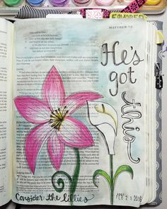 He's got this! Matthew 6:28-29 And why are you anxious about clothing? Consider the lilies of the field how they grow: they neither toil nor spin  yet I tell you even Solomon in all of his glory was not arrayed like one of these. by kayteecreates