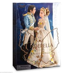 Disney Store Cinderella and The Prince Doll Set Live Action Movie 2015 New | eBay