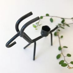 A charming Mid Century modern small black wire metal candleholder designed by Gunnar Ander. Made in Sweden. by ReOSL on Etsy Sweden, Mid-century Modern, Candle Holders, Mid Century, Hair Accessories, Wire, Trending Outfits, Unique Jewelry, Handmade Gifts