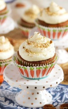 Super easy to make, Carrot Cake Cupcakes with Cream Cheese Frosting are tender and moist. The perfect cupcake recipe for any occasion. | @suburbansoapbox