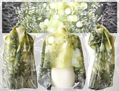 Lily of the Valley silk scarf hand painted by Luiza Malinowska MinkuLUL May Lilies on ETSY: https://www.etsy.com/listing/153152640/long-silks-scarves-lily-of-the-valley?ref=shop_home_active_14 #minkulul #silkscarf