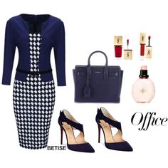 READY FOR BACK TO OFFICE !!! by betty-sanga on Polyvore featuring Mode, WithChic, Christian Louboutin and Yves Saint Laurent