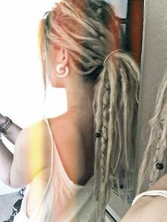 girl dope hippie style boho bohemian long hair gauges stretched ears dreads body modification dreadlocks girls with dreads beads skin deep dreadhead hippie girl gauged ears hippie life dreadlife beaded dreads