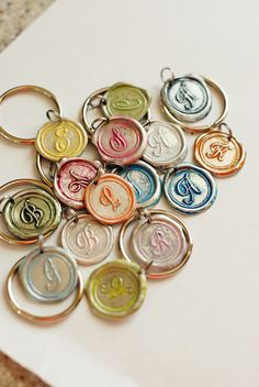 MOTHERS DAY Gift PERSONALIZED initial key Chain / by sealedwithYOU, $17.00