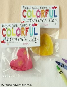 Free Printable Valentine- cute idea with crayons or perfect with markers for teacher gifts!