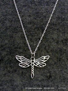 Dragonfly in 925 Sterling Silver on a 925 by CedarCreekCanada, $99.95