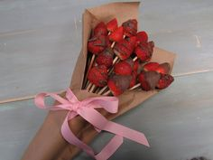 Create something sweet and unique that is perfect for surprising your significant other and friends for Valentine's Day, anniversaries, birthdays or just because! This chocolate-dipped and drizzled strawberry bouquet is super simple and easy to make that will leave your loved ones WOW'ed!