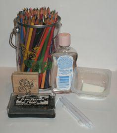Scrappy Mel: Tutorial: Mezclar los lápices de colores estafa Aceite de Bebé