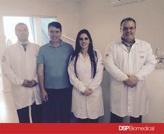 Prof. Dr. Rodrigo Bonacin, Eng. Célio Netzel( CEO DSP Biomedical) , Larissa Motta (consultora de vendas DSP Biomedical), Prof.Msc Ricardo Toscano ( Diretor científico DSP Biomedical)