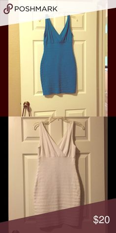 Bodycon Dress Royal Blue and White Bodycon Dress. Pricing is for each dress Express Dresses