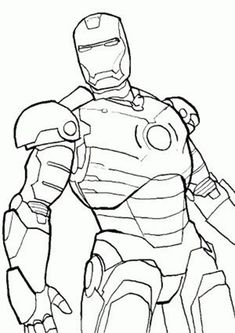 Fun Iron Man coloring pages for your little one. They are free and easy to print. The collection is varied with different skill levels Avengers Coloring Pages, Spiderman Coloring, Superhero Coloring, Drawing Superheroes, Marvel Drawings, Realistic Drawings, Easy Drawings, Iron Man Drawing Easy, Science Fiction