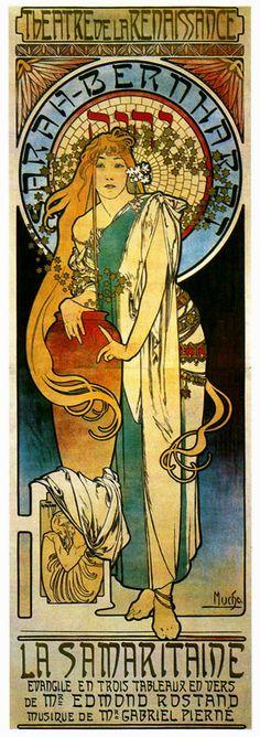 ۞۩ La Samaritaine, 1897, by Alphonse Mucha