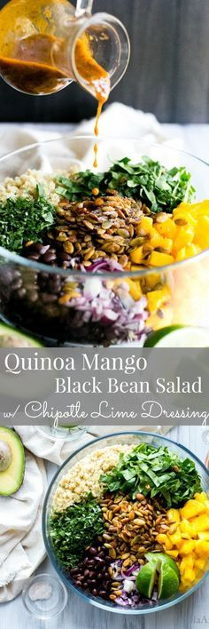 You Have Meals Poisoning More Normally Than You're Thinking That Quinoa Mango Black Bean Salad With An Irresistible Chipotle Dressing Vegan Recipes Vegetarian Recipes Healthy Recipes Healthy Salads, Healthy Eating, Clean Eating, Healthy Recipes, Raw Diet Recipes, Pulses Recipes, Make Ahead Salads, Raw Food Diet, Chipotle Dressing