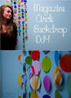 Colorful Circle Photo Backdrop DIY
