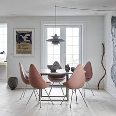 The Drop™ chair in perfect combination with the PK54™ table #fritzhansen