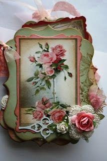 Shabby Pink Roses Mini Album