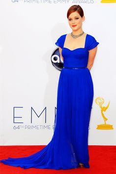 Beautiful Pamella Roland blue royal dress.