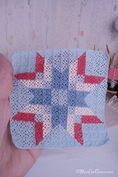 Miniature Crochet Blanket Star Patchwork by MiceAndTreasures