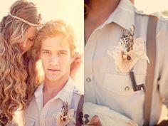 Bohemian Wedding.. Babe diggin' the suspenders for ya!