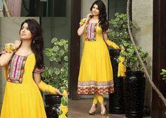 Majesty Yellow Salwar Kameez | StylishKart.com