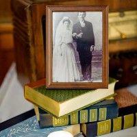 wedding photo centerpiece