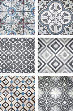 Bathroom tiles ideas blue kitchen backsplash New ideas Grey Bathroom Tiles, Grey Bathrooms, Bathroom Flooring, Grey Tiles, Bathtub Tile, Small Bathtub, Attic Bathroom, Bathroom Vanities, Tile Patterns