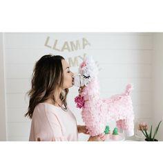 Llama piñata DIY