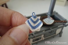 Dollhouse crochet Potholder scale 1:12 by MiceAndTreasures on Etsy