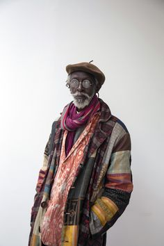 """""""Issa Samb is considered a total artist. His practice ranges from acting, for both theatre and cinema, to writing (poetry, essays, novels), installing, performing, painting and sculpting… yet his work is unclassifiable.""""Photo by Christa Holka"""