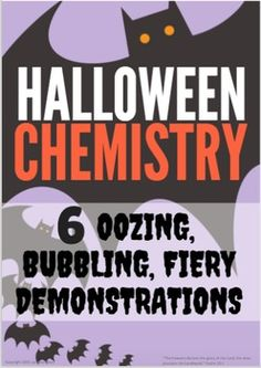 """This demonstration packet is popular in EVERY science classroom!  Students watch as a bottle of harmless-looking liquid begins to bubble and overflow out of control with a simple catalyst, or as water turns into dark pink """"blood"""", or as carbon dioxide sublimates from a solid into a hazy, spooky fog.Originally designed as high school demonstrations, these are easy enough to be used in middle school, and most are safe enough for elementary school."""