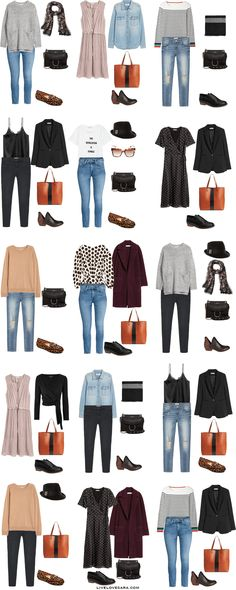 3 Weeks in Bruges, Belgium. What to Pack. Outfit Options 16-30. Fall Travel Capsule Wardrobe 2017