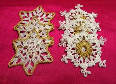 BUY 2 GET 3 Set of 6 pcs delicate crocheted by Handicraftshed