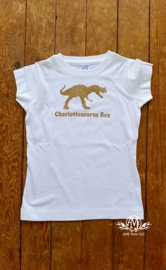 Girl dinosaur birthday t shirt, girls T-rex dinosaur shirt, glitter dinosaur shirt for girls, gift for girls