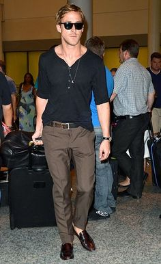 Ryan Gosling in Penny Loafers.. Love his Style!