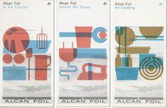 Alcan Foil Brochures. Design by Rolf Harder 1960-62   #vintage #graphic #design