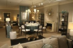 Dan Davis Design staged a vignette for a family holiday gathering at Michigan Design Center's Celebrations @home Event. The vignette was staged in the Baker Knapp & Tubbs Showroom.