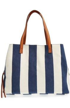 Sole Society 'Oversize Millie' Stripe Print Tote available at #Nordstrom