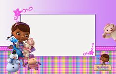 Doc McStuffins Free Printable Invitations, Cards or Photo Frames ...