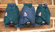 Knit bat pattern