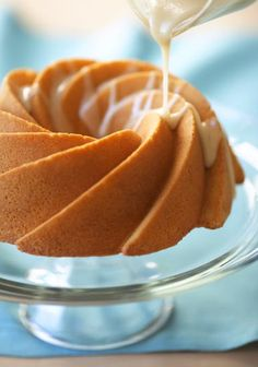 bundt cake with icing..