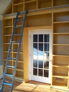 built in shelves around door