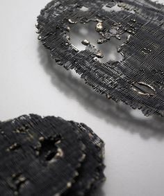Joo Hyung Park - melted series - detail of a brooch