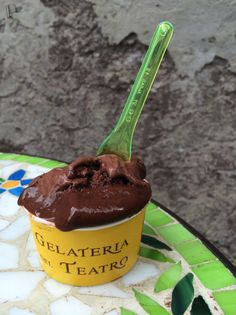 THE BEST Gelato (seriously, you HAVE to go to Rome just for this Gelato) from Gelateria del Teatro, Rome, Italy