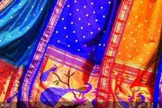 Royal blue Paithani