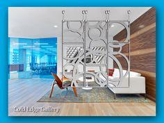 Artistic Room Divider Metal Hanging Art Screens by ColdEdgeGallery Metal Room Divider, Room Dividers, Artistic Room, Glittering Lights, Large Metal Wall Art, Metal Art, Divider Design, Open Concept Floor Plans, Wooden Pallet Furniture