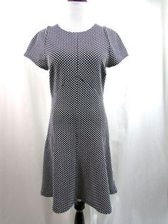 Banana Republic Textured Polka Dot Black White Dress Size 10 NWT New $130.00 #BananaRepublic #Shift #WeartoWork
