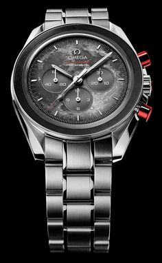 Omega Speedmaster with red pushers