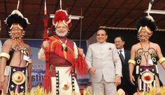 Narendra Modi at the Hornbill festival in Nagaland