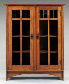 "Gustav Stickley Harvey Ellis design 2 Door bookcase. No. 702 Ca. 1905. 57"" x 48"" x 14"""